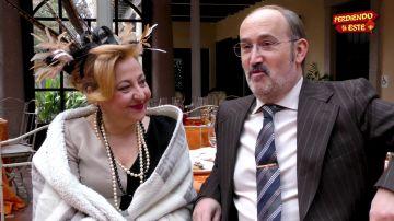 Carmen Machi y Javier Cámara en el rodaje de 'Perdiendo el Este'