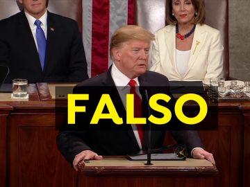 Las falsedades del Trump en su discurso sobre el Estado de la Unión según los 'fact check'