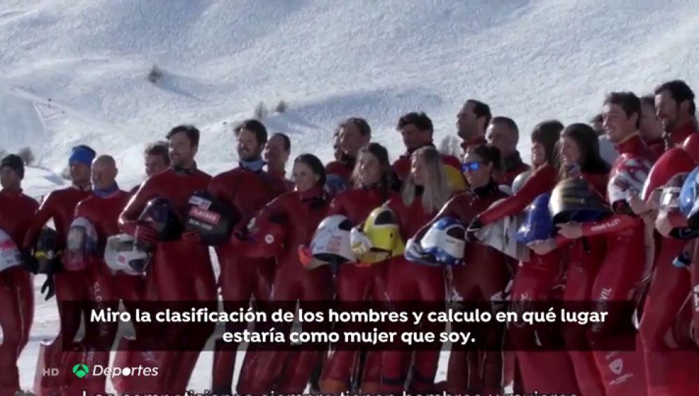 """El esquí de velocidad es el deporte con menos diferencia entre chicos y chicas: """"Soy la mujer más rápida del planeta"""""""