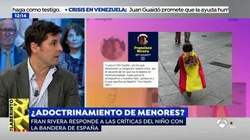 Fran Rivera explica la polémica foto del niño con la bandera de España: