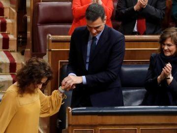 Pedro Sánchez y María Jesús Montero