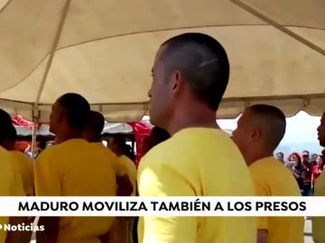 Maduro moviliza a los presos a la frontera con Colombia