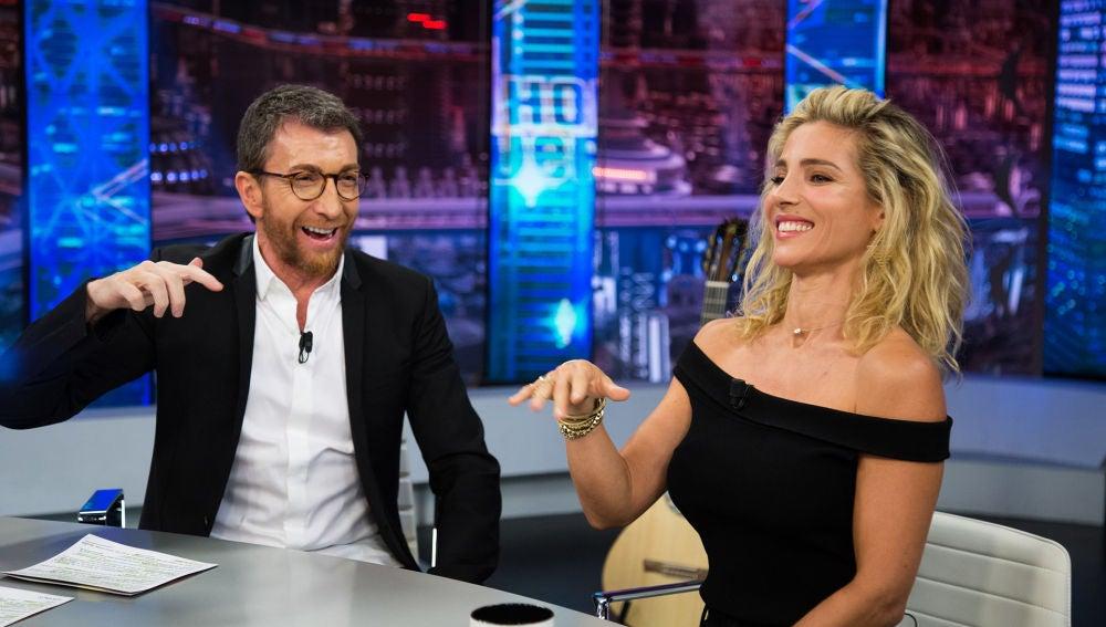 Elsa Pataky con Pablo Motos en el hormiguero