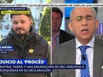 Encontronazo entre Gabriel Rufián y Juan Rosell