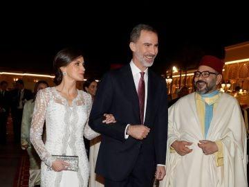 Los Reyes en su visita oficial a Marruecos.