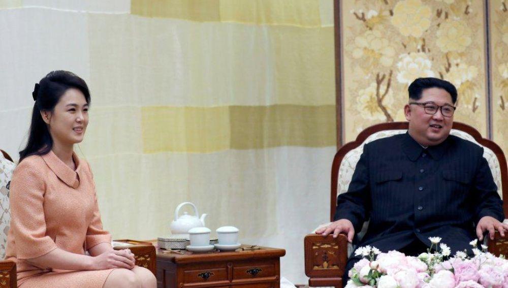 Kim Jong Un y Ri Sol Ju