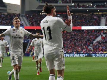 El corte de mangas de Gareth Bale en el Wanda Metropolitano