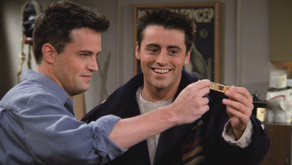 Chandler y Joey en 'Friends'