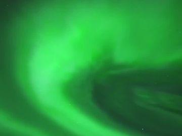 Aurora boreal en la laponia finlandesa
