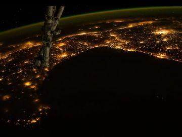 Imagen capturada desde la Estación Espacial Internacional