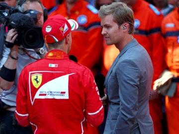 Nico Rosberg y Sebastian Vettel en el GP de Monaco