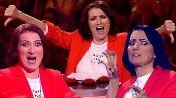 Así disfruta Silvia Abril haciendo sufrir sin piedad a los concursantes de 'Juego de juegos'