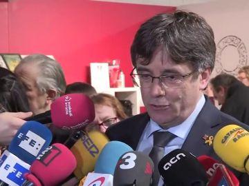 """Puigdemont critica que Tajani se haya dejado """"arrastrar"""" por una """"deriva demofóbica"""" al vetar su conferencia en el Parlamento"""