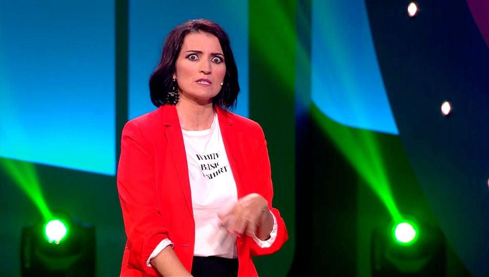 """Silvia Abril bromea con una concursante: """"Yo tengo un niño de 53 y el destete le está costando"""""""