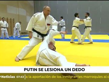 Putin sufre un accidente practicando judo con la selección nacional