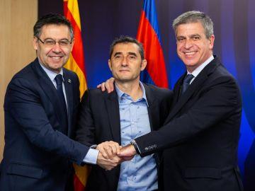 Ernesto Valverde renueva con el Barcelona hasta 2020