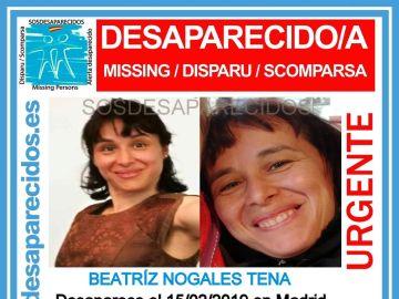 Imagen de la mujer desaparecida en Madrid
