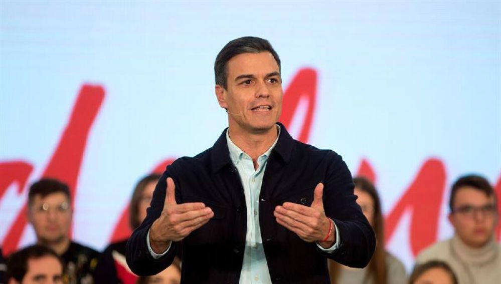 El presidente del Gobierno y secretario general del PSOE, Pedro Sánchez