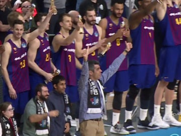 El elenco de 'Campeones', con el Barcelona Lassa