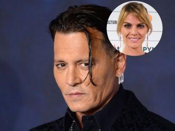 Amaia Salamanca y Johnny Depp