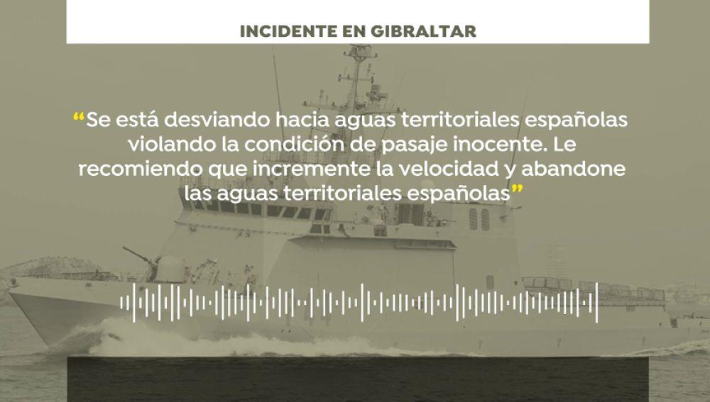 """Gibraltar denuncia un incidente con el buque de guerra """"Tornado de la Armada"""" y  España lo niega"""