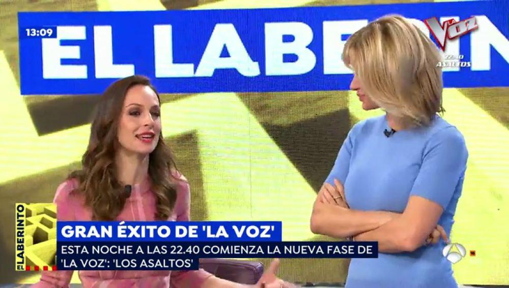 Eva González, presentadora de 'La Voz'