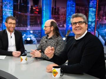 Florentino Fernández y Santiago Segura discuten en 'El Hormiguero 3.0' sobre quién de los dos se tira pedos en el escenario