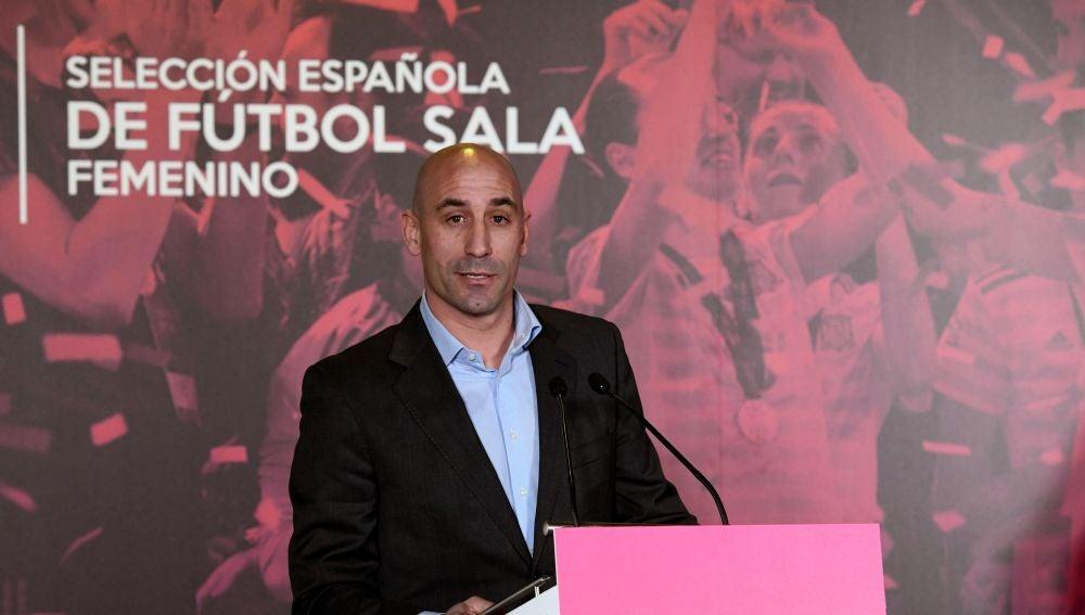 Luis Rubiales, durante un acto