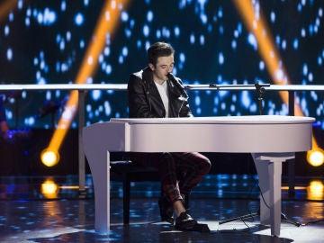 Javier Erro canta 'Hábito de ti' en los Asaltos de 'La Voz'
