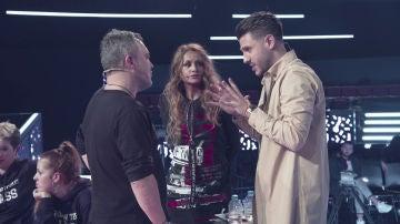 VÍDEO: Paulina Rubio intenta calmar a Andrés Balado en los ensayos de los Asaltos de 'La Voz'