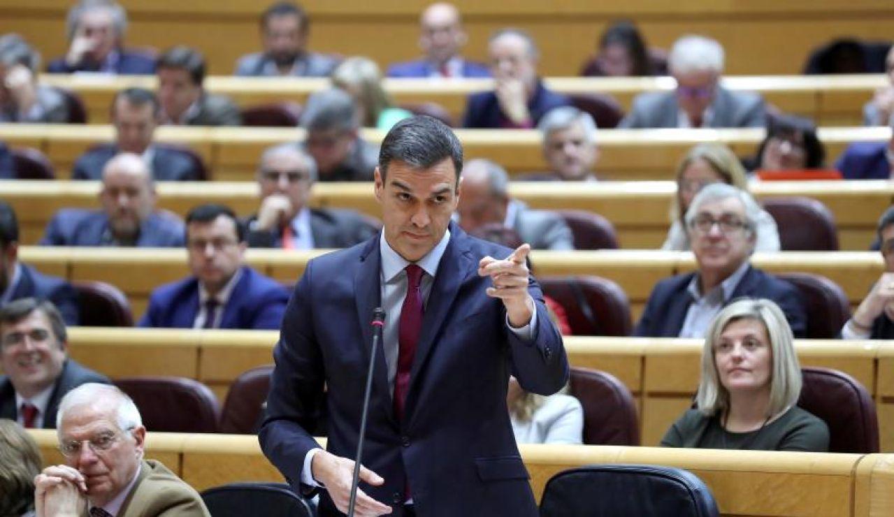 Pedro Sánchez en el Senado