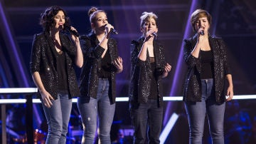 "Les Fourchettes cantan ""When I fall in love"" en los Asaltos de 'La Voz'"