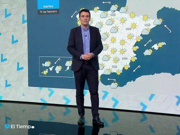 Jornada marcada por la nubosidad y lloviznas débiles en el norte y en las montañas del interior de la península