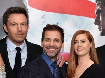 Zack Snyder, Ben Affleck y Amy Adams