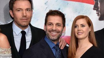Zack Snyder, Ben Affleck y Amy Adams
