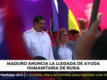 Nicolás Maduro anuncia la llegada de ayuda humanitaria de Rusia