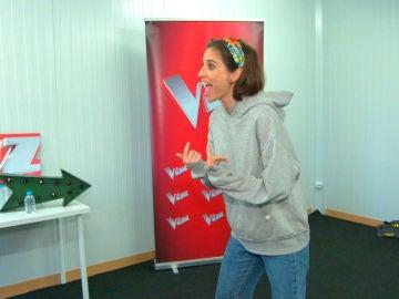 Teresa Ferrer saca su lado más macarra en los ensayos de 'La Voz'