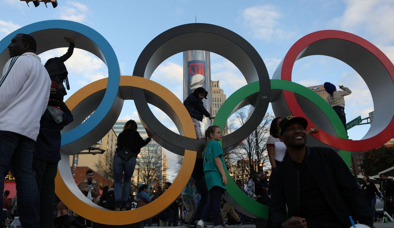 Los aros olímpicos, en Atlanta