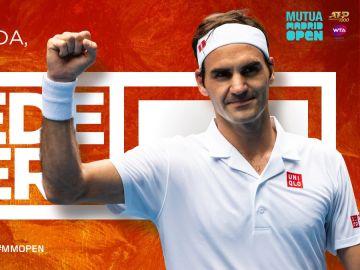 Federer volverá a jugar el Mutua Madrid Open