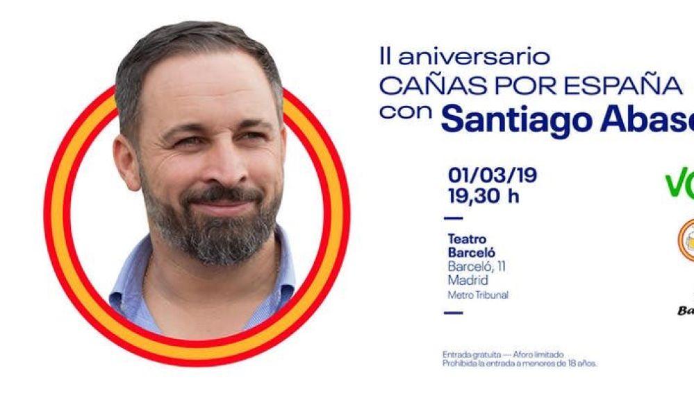 'Cañas por España' con Santiago Abascal