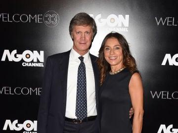 Fulvio Collovati junto a su mujer Caterina