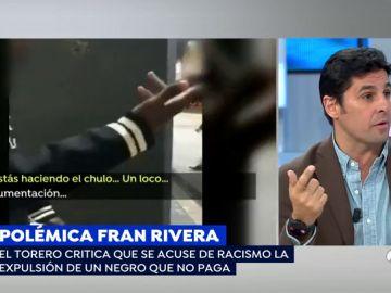 Fran Rivera, en un momento de la intervención.