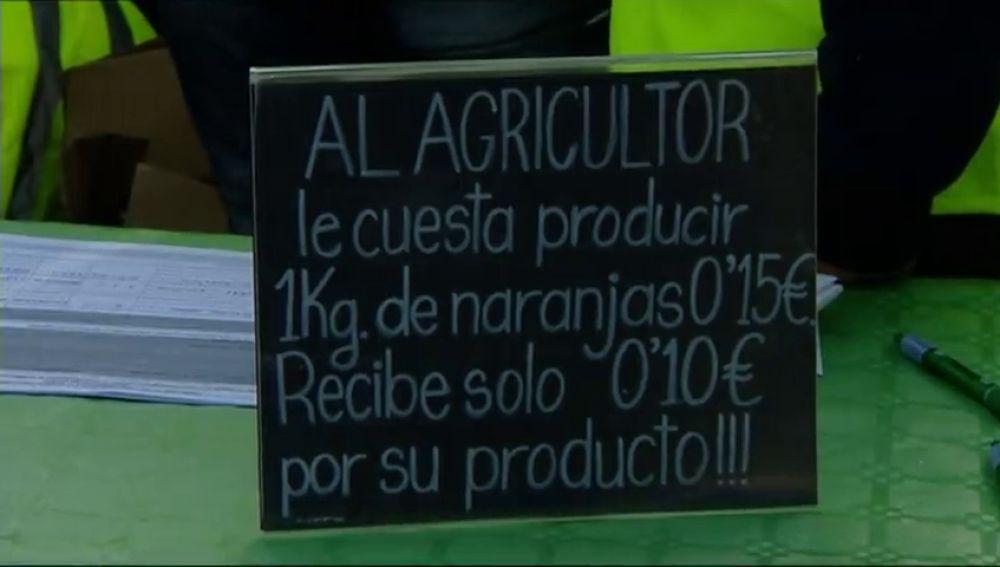Reparten 2 mil kilos de naranjas como protesta por los precios