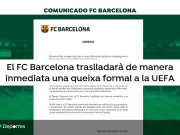 El Barcelona enviará una queja a la UEFA por la presencia de los Boixos en Lyon: asegura que viajaron por sus propios medios