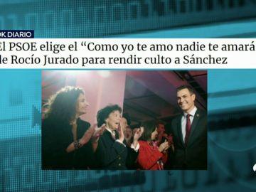 El PSOE usa la canción 'Como yo te amo' de Rocío Jurado para rendir homenaje a Pedro Sánchez
