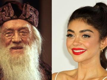Dumbledore y Sarah Hyland