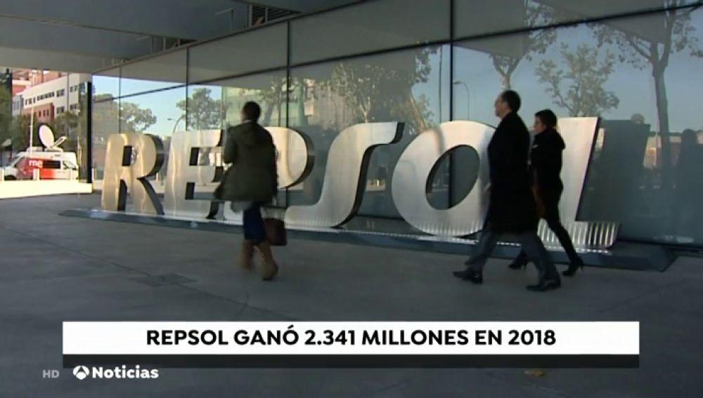 Repsol ganó 2.300 millones de euros en 2018