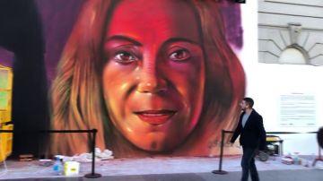 La mirada de cuatro mujeres invade la Gran Vía de Madrid en el 8M a golpe de arte urbano