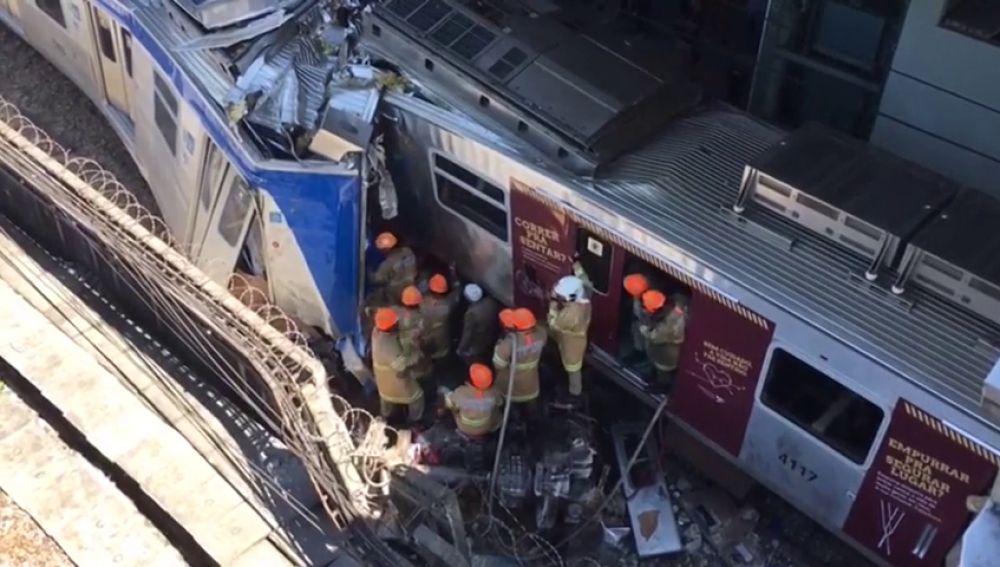 Accidente de dos tren en Brasil