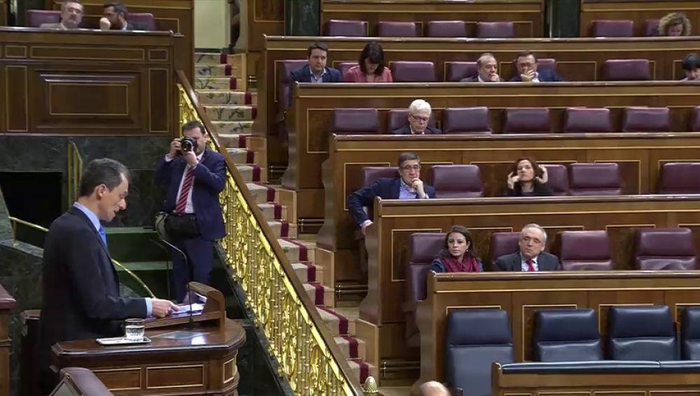 El ministro Pedro Duque se estrena en la tribuna del Congreso el último día